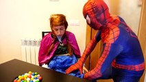 Spiderman w/ Princess Anna Pregnant & Spiderbaby in Real Life ft Frozen Elsa Kissing Frog