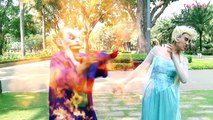 Frozen Elsa Becomes a COP!! Poison ivy arrested in jail vs spiderman and Hoverboard cop &