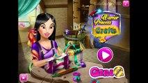 Elsa, Rapunzel, Aurora, Anna, Mulan and Jessies Crafts Games Compilation For Kids