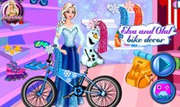 Elsa And Olaf Bike Decor Disney princess Frozen Best Baby Games For Girls