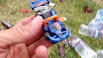 Hot Wheel Cars In The Potty and Toy Crane Fun-Mkc5wNtw4