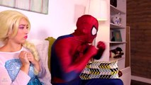 Frozen Elsa Turns into a BAD BABY! w_ Spiderman Pink Spidergirl Joker Anna! Funny Superhero Video  -)-xWa6i