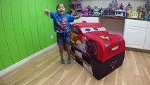 HUGE DISNEY CARS LIGHTNING MCQUEEN SURPRISE TOYS TENT Big Egg Surprise Opening Disney Cars ToyReview-hi-ypB6V