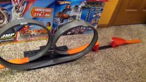 Hot Wheels Double Loop Launch Stunt Set with Launcher and Jump Toy Review-Hh