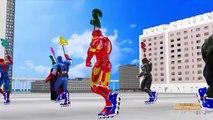 Spiderman 3d Finger family Frozen ABC songs   Captain America Finger family   Minions 123