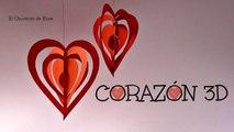 Manualidades para San Valentín, Corazón 3D Kirigami, Día del amor y la Amistad