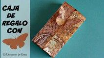 Cómo hacer una Caja de Regalo Scrapbook, Manualidades de Papel, Caja de Regalo con Mariposa