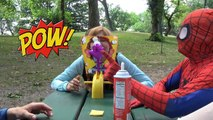 Elsa and Spiderman Pie Face Party SuperHeroes in New York
