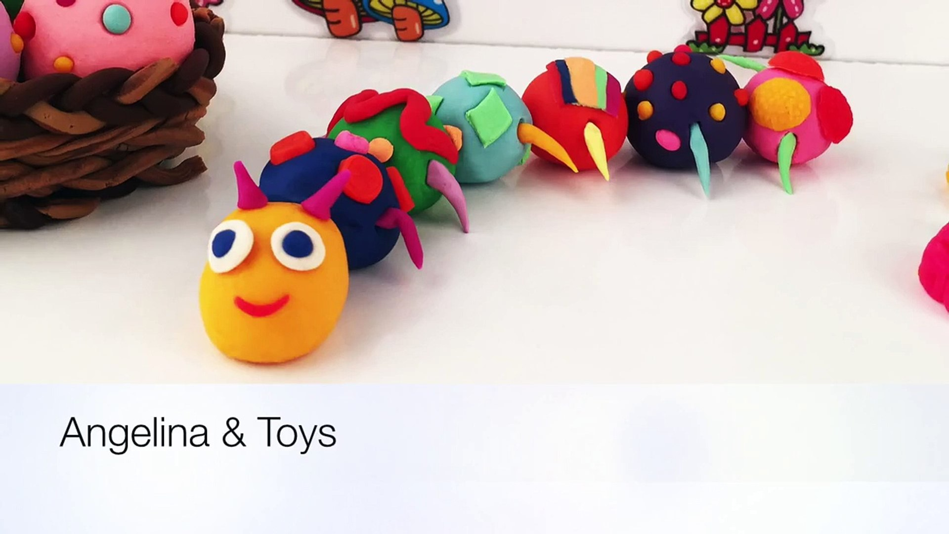 Kids Toys BeeTube - Play Doh Kids Fun Crafts, Animals Playdough Learning Activities CATERP