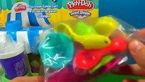 Play-Doh Plus Ice Cream Sundae Cart Popsicle, Ice-Cream, Mint Play Doh Sweet Sho