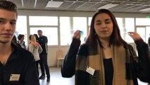 Journée portes ouvertes au lycée Mermoz. Les élèves ont présenté au public leur mini-entreprise !