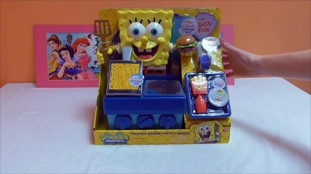 Little Kelly - Toys & Play Doh  - Spongebob Krabby Patty Maker ( Bikini Bottom, Patrick, Spongebob)-xftyaYLX52I