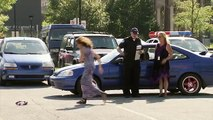 Policeman French Kisses Everybody He Arrests - Just For Laughs Gags