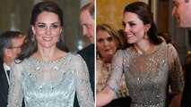Kate Middleton Dazzles in Shimmery Blue Gown