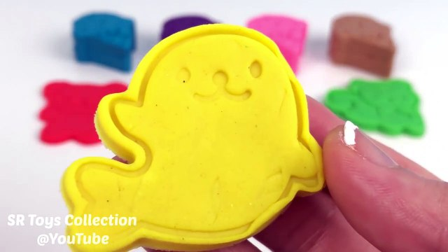 Learning Colours Video for Children Play-Doh Ice Cream with Cookie Cutters Fun and Creati