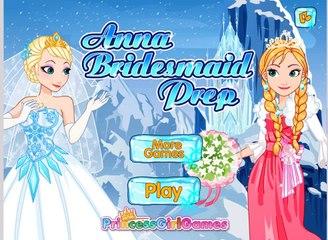 Анна подружка невесты приготовительный видео играть для милая девочки-замороженные Принцесса Анна Игры