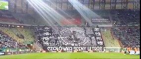 Le superbe tifo des supporters du Legia Varsovie