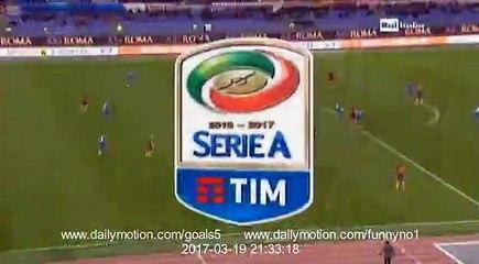 Mohamed Salah Goal AS Roma 2 - 1 Sassuolo Serie A 19-3-2017