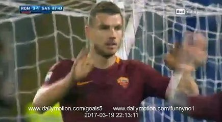 Edin Dzeko Goal AS Roma 3 - 1 Sassuolo Serie A 19-3-2017