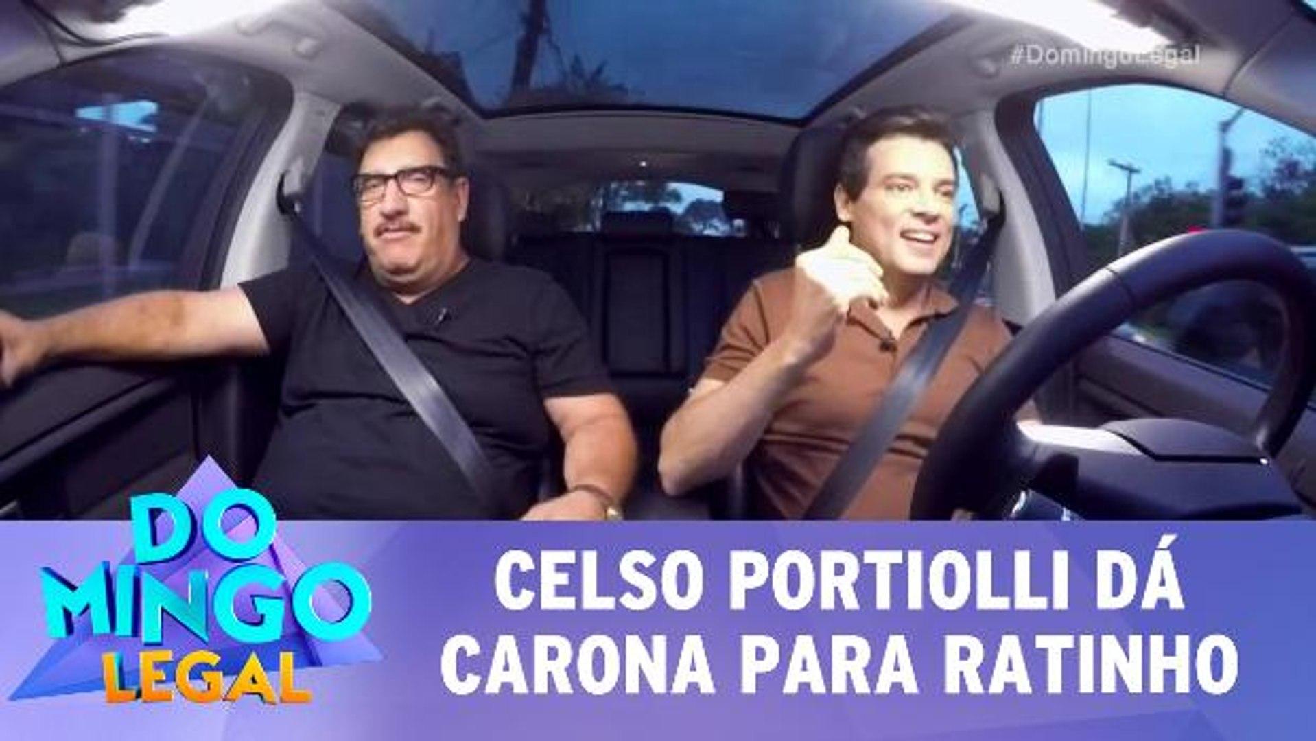 Celso Portiolli dá carona para Ratinho