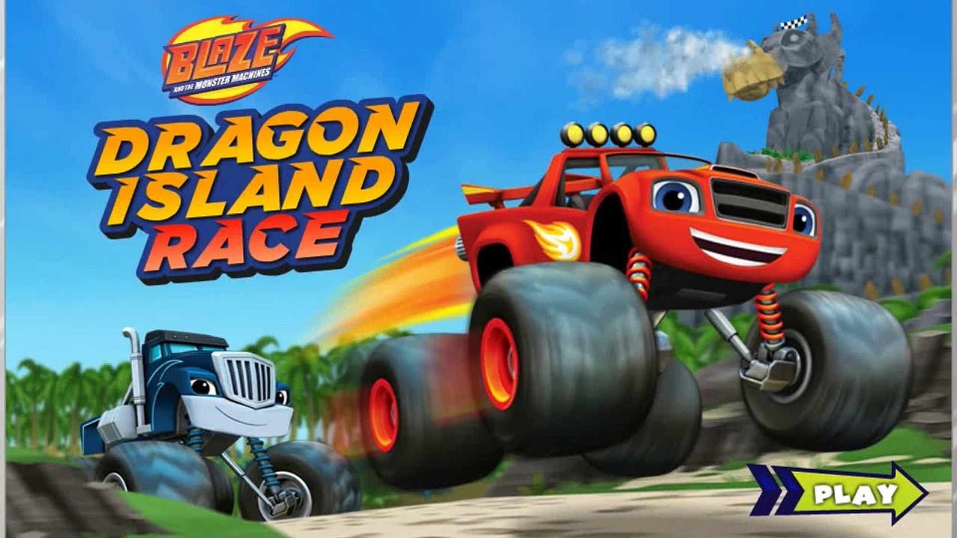 Blaze and the monster machines - Dragon Island Race against Crusher full episode english