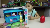 Peppa Pig Giant Surprise Egg Opening! Peppa Pig Toys Playtime and Toy Unboxing Ryan ToysRe