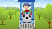 The ABC Song . Cheeky Diablo Nursery Rhyme Cartoon with Cheeky Blue The Train