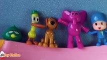 Five Little Pocoyo Jumping on the Bathtub | Five Little Monkeys Jumping on the Bed Nursery