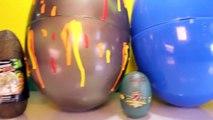Giant DINOSAUR EGGS Surprise Toy Dinosaurs Jurassic World Toys, Volcano Egg, Dino Dig Videos-2HA