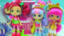 New Season 7 Shopkins Shoppies Dolls Cocolette Lucy Smoothie, Daisy Petals & Polli Polish-Iz35xiG