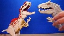 Jurassic World INDOMINUS REX Toy Dinosaurs Hybrid Rampage & Armor I-REX Dinosaur Toys Review-D8b