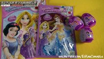 Disney Princesses Giant Surprise Egg Toys + Magiclips Dolls + Bag + Play Doh Dresses + Kin
