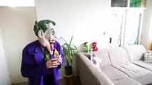Spiderman Baby Bottle with M&M's! w_ Joker Frozen Elsa Pokemon Pikachu Superhero Fun in Real Life-PY