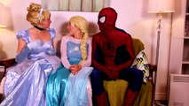 Frozen Elsa Turns into a BAD BABY! w_ Spiderman Pink Spidergirl Joker Anna! Funny Superhero Video  -)-xW