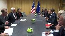 EU-US Mike Pence receives Federica Mogherini in Brussels_Tusk receives Mik