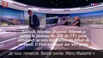 Présidentielle : Nicolas Dupont-Aignan explique pourquoi il a quitté le plateau de TF1