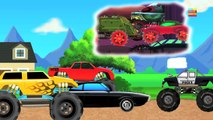 Haunted House Monster Truck - Haunted House Monster Truck | War Begin | Scary Cars | Episode 12