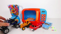 Monster Tow Truck Car Vehicles Toys for Kids Learn Colors for Toddlers with Microwa
