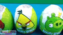 Surprise Eggs ANGRY BIRDS, Энгри бердс киндер сюрприз, яйца сюрпризы злые птички