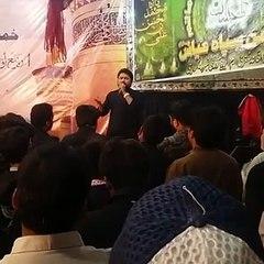 Syed Raza Abbas Zaidi Live Noha Khowani at Korangi Karachi 4th Rabi-ul-Awal 2016
