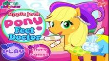 MY LITTLE PONY Fluttershy Applejack Pinkie Pie at DOCTOR - My Little Pony Games for Kids