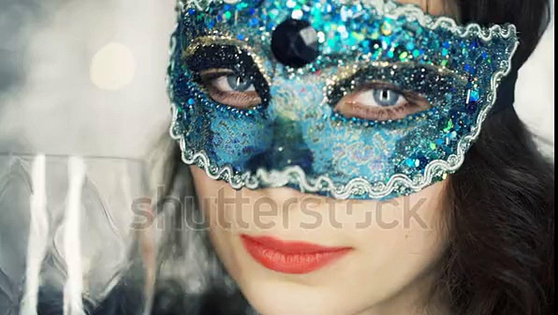Girl is drinking vine wearing mask