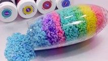 DIY How To Make Colors Rice Cocktail Learn Colors Glitter Slime Clay Toys Jingle Jingle Li