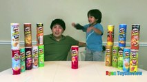 PRINGLES CHALLENGE! Potato Chip Flavors Tasting Contest Princess ToysReview Little Pony Eg