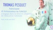 En direct de l'espace : Thomas Pesquet s'engage dans la réserve citoyenne de l'éducation nationale
