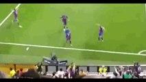 Le cri de colère de Cristiano Ronaldo après le but de Lionel Messi lors de Real Madrid-Barcelone