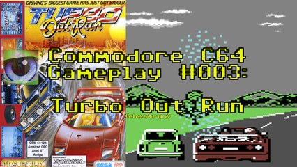 Commodore C64 Gameplay #003: Turbo Out Run (cheatrun)