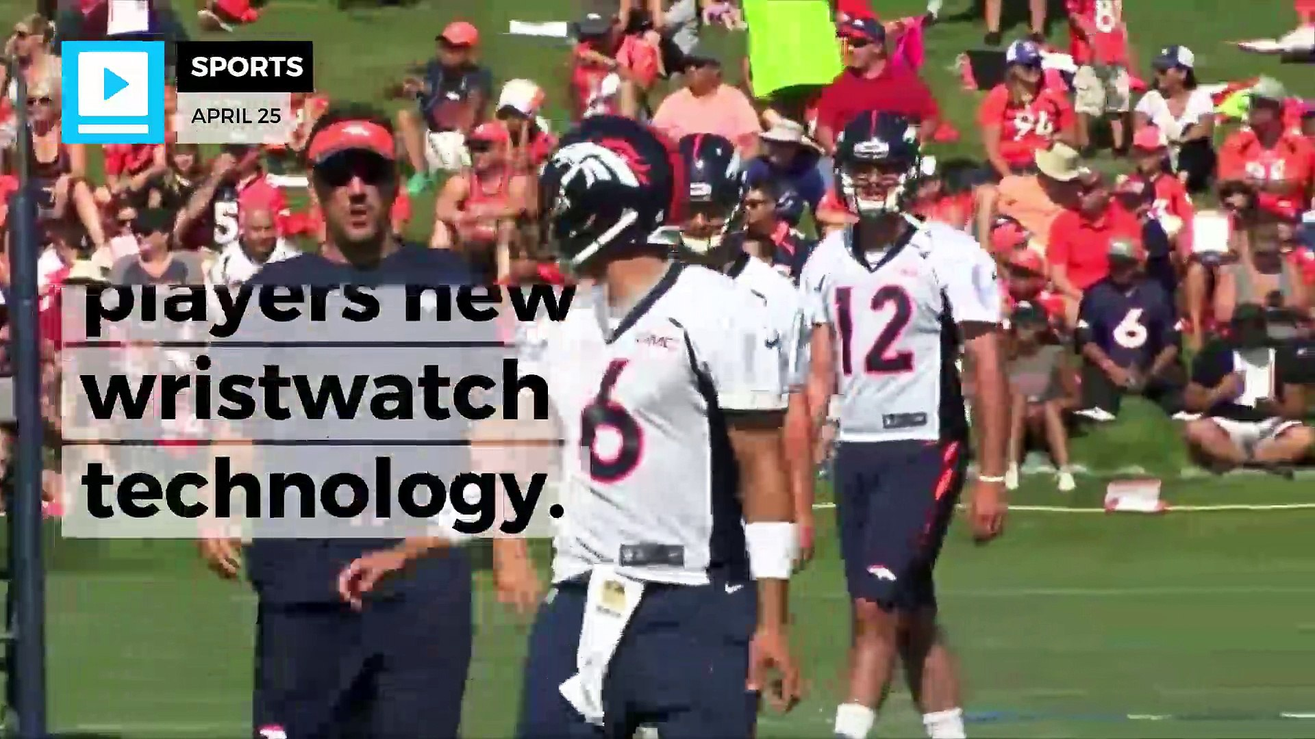 NFL players get new wristwatch technology
