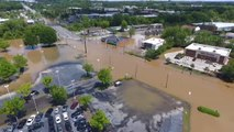 Drone Footage Shows Scale of Raleigh Flooding