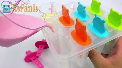 How to Make 'Color Milk Stick Ice Cream' & Make Bear Jelly 무지개색 아이스크림과 곰모양 젤리 푸딩을 만들어보자!